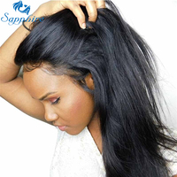 Sapphire Peruvian 360 Lace Frontal Wig Peruvian Straight Hair Wigs 360 Lace Front Human Hair Wigs With Baby Hair For Black Women