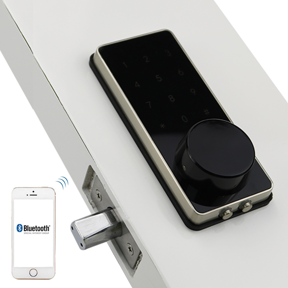 электронный дверной замок smart bluetooth блокировка дверей электронный Сенсорный экран код, пароль ригель Замок аккумулятора разблокировка с APP ...