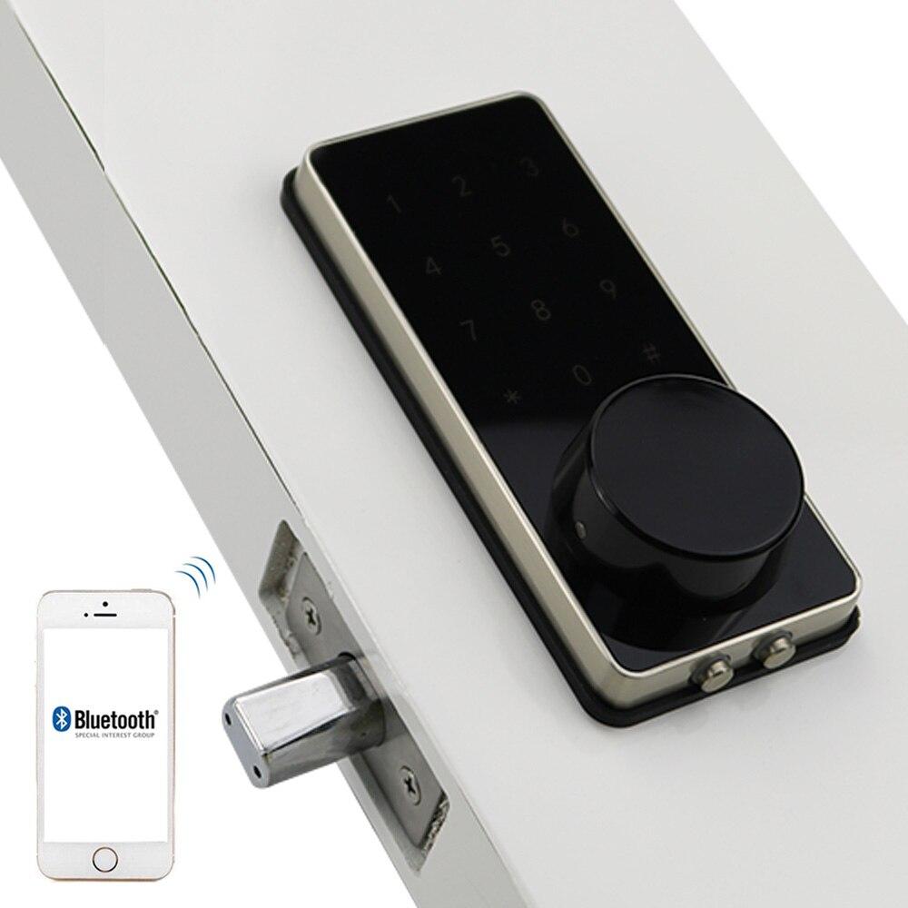 Prata Liga de Zinco Casa Inteligente Bluetooth Tela de Toque Eletrônico Código Código de Desbloqueio por App Bloqueio de Senha Fechadura Da Porta Trava Chave