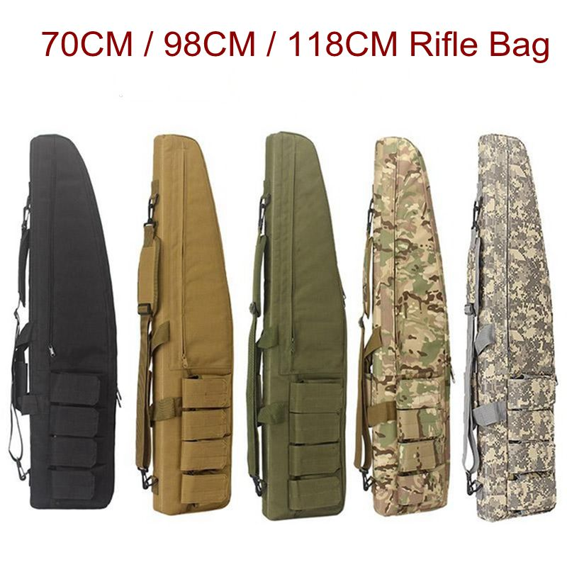 70cm / 98cm / 118CM War Game Military Tactical Gun Bag Slip Durable Hunting Equipment Gun Bags Air Rifle Case Backpack