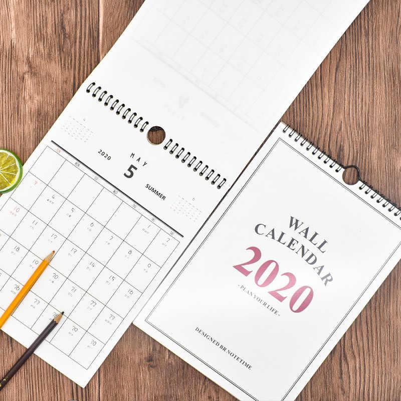 1 Pc 2020 Bom Dia Calendario De Parede Agenda Organizador Dos