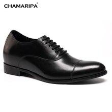 CHAMARIPA Erhöhen Höhe 7 cm/2,76 zoll MenElevator Schuh Herren Kleid Schuhe Hebe Schuhe Oxfords Hochzeit Schuhe