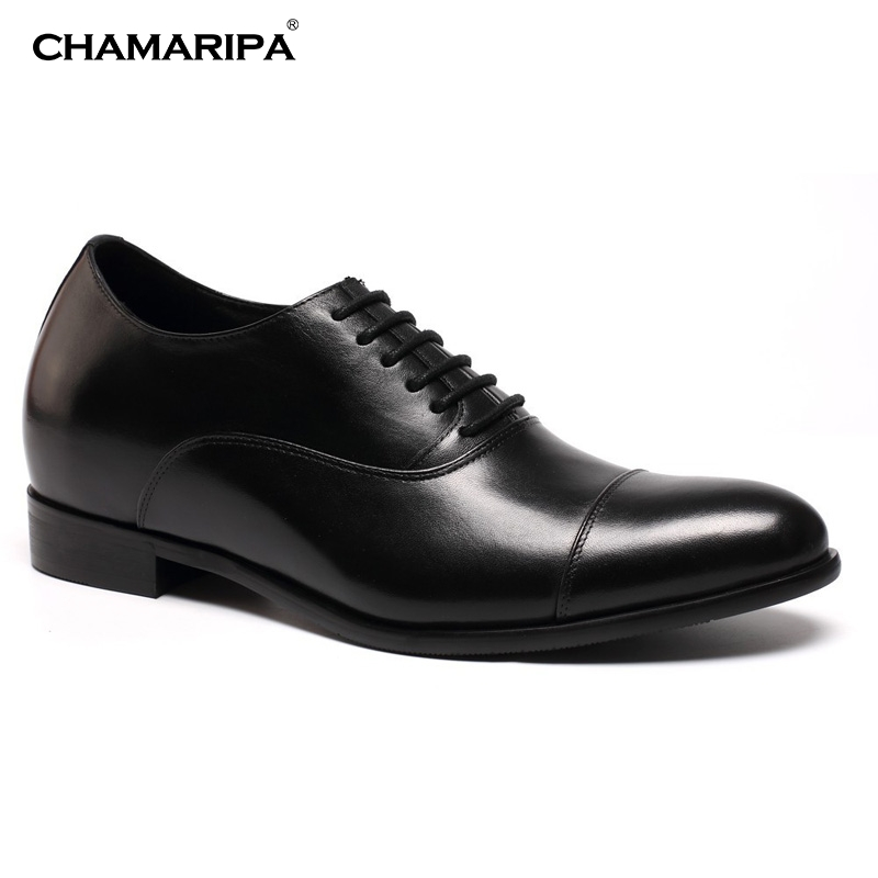 CHAMARIPA Men Elevator Shoe 7cm/2.76 inch Increase Height Gentlemen Dress Shoes Wedding Lifting Shoes Oxfords X92H38-1 ремни lee ремень gentlemen