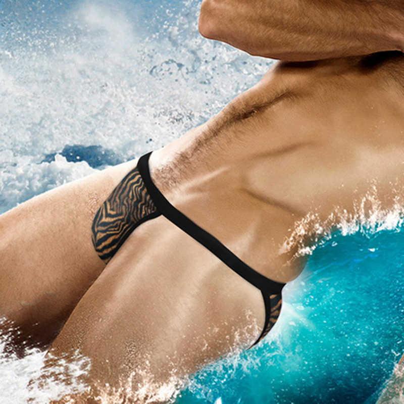 Été hommes Spa plage natation tongs et G cordes slips Sexy mâle taille basse maillot de bain bikini Cueca respirant surf maillot de bain