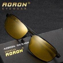 AORON Men Polarized Sunglasses Goggles Metal UV400 High Quality Retro Sun Glasses For Women Mirror Luxury Brand Designer цена и фото