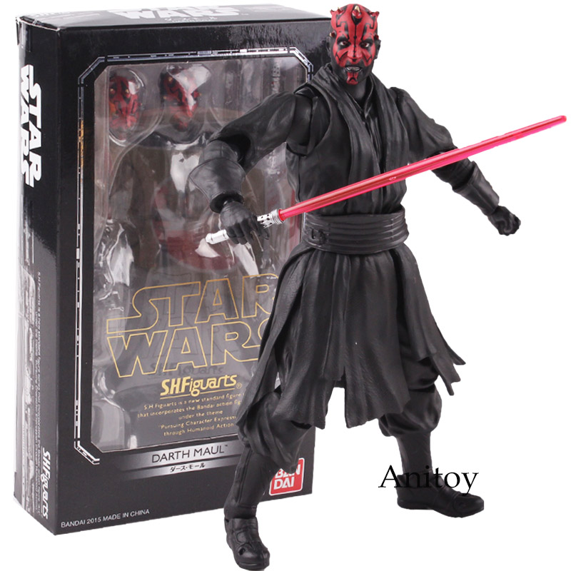 SHF Star Wars Toys Darth Maul Star Wars Action Figure PVC Figures Collectible Toys Doll Black Series
