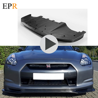 Car Accessories R35 GTR Front Lip Carbon Fiber Car Styling For Nissan R35 GTR 2009 2012 Early Nismo Craft Style Bottom Spoiler