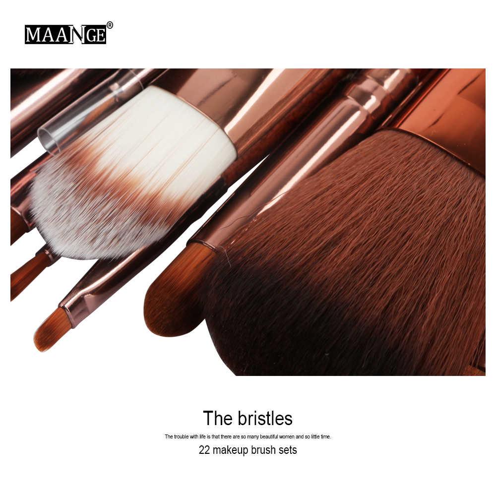MAANGE Pro 22 sztuk zestaw pędzli do makijażu Comestic róż w proszku do podkładu cień do powiek Eyeliner Lip Beauty narzędzie pędzel do makijażu Maquiagem