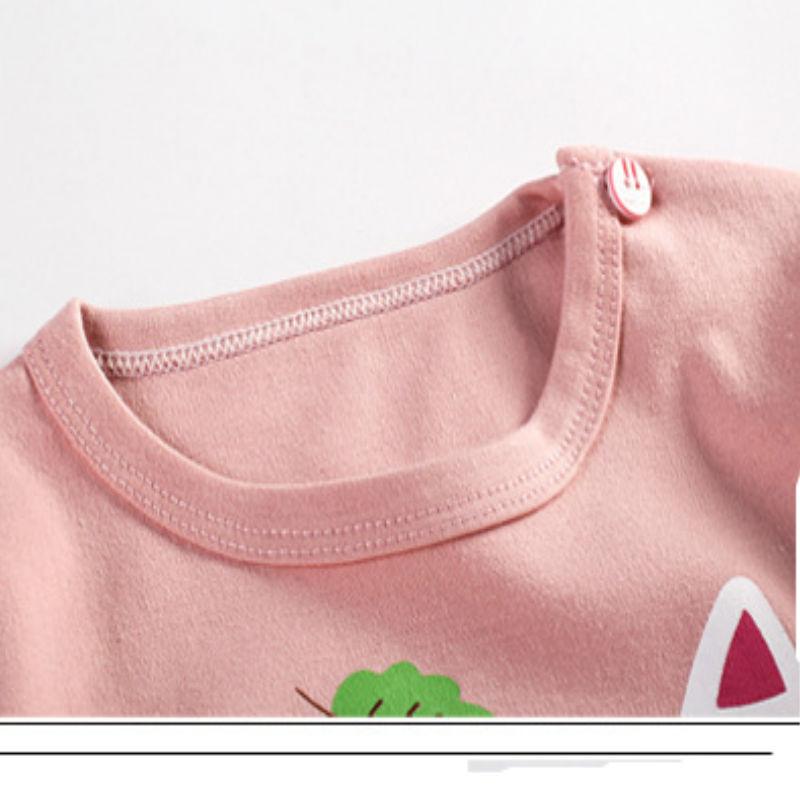 2017 new autumn Children baby boys girls clothing sets tracksuit 2PCS cotton sport suit cartoon t-shirt+pants kids clothes sets