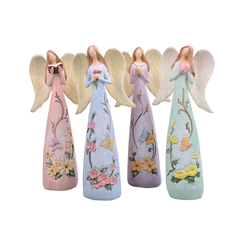 Room Decoration Christmas Gift Ornament Exquisite Cute Doll Resin Craft Fairy Home Anna Series Children's Angel Figurines
