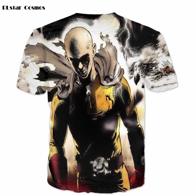 2018 New Fashion Comics T Shirt 3D One Punch Man T-shirt Harajuku Summer Style Tee Casual Tops Dropship Plus size 5XL