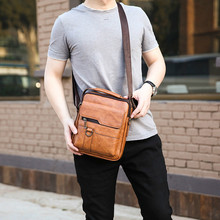 Small Briefcase Men's Messenger Bag Men Leather Shoulder Bags Man Business Crossbody Bags For IPAD Air Mini Male Leather Handbag