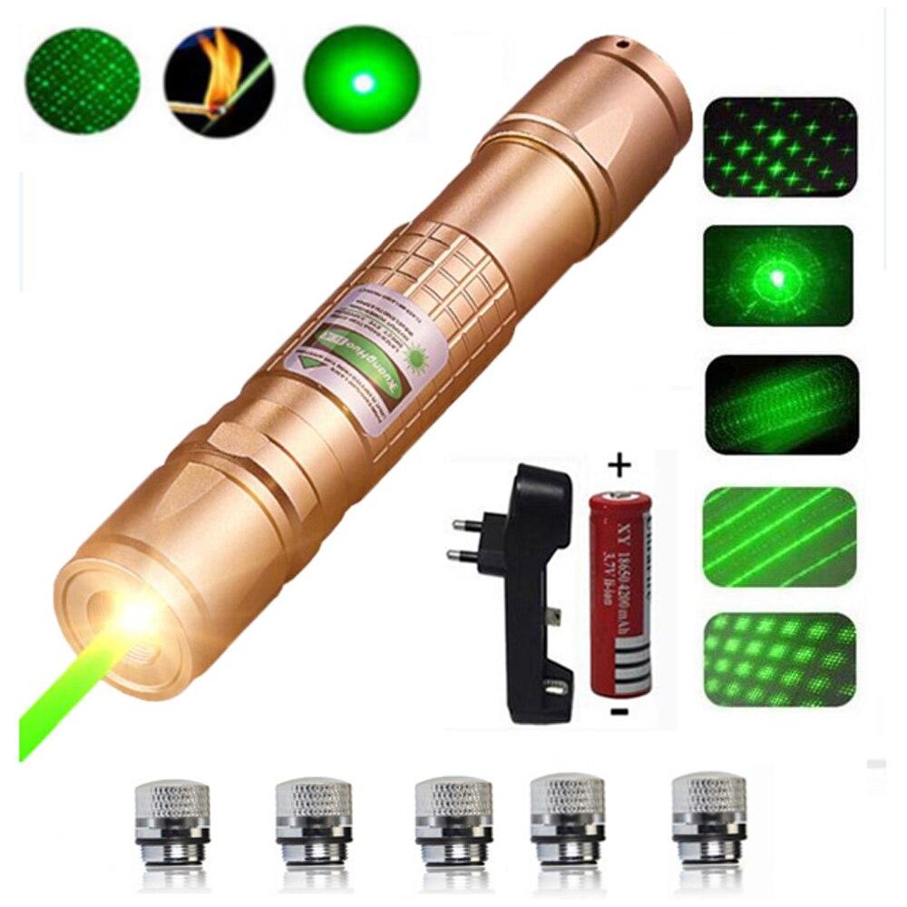 High Power Laser Pointer Hunting Green Lazer Tactical Laser Sight Pen 303 Burning Laserpen Powerful Laserpointer Flashlight
