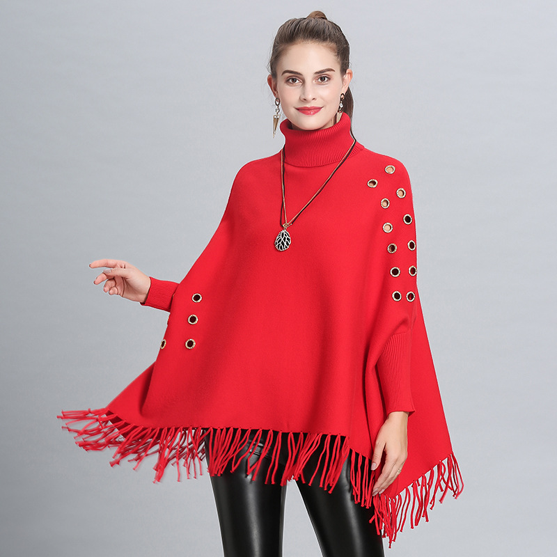 2018 New Fashion winter warm Poncho for women ladies Thicken Hollow Soft Solid shawls and wraps