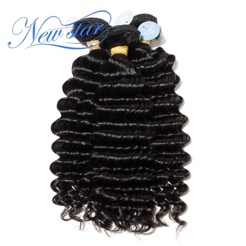 Deep Wave Peruvian Virgin Hair Weave Extension 3 Bundles 10''-34'' Unprocessed Thick Human Hair Weaving New Star Hair Products