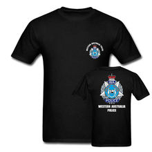 2019 Funny Western Australia Police Mens Army T Shirts Double Side Unisex Tee