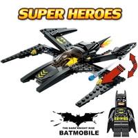 Hot DC Comics Super Heroes Batman The Dark Knight Minifigures X Wing Bat Fighter Building Block