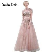 Стенд воротник вышитые праздничное платье выровнять землю длина 2018 Новый голой розовый Hollow Марля модные свадебные нарядные платья