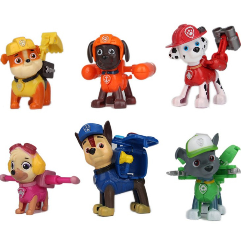 2017 New Canine Patrol Dog Toys Russian Anime Doll Action Figures Car Patrol Puppy Toy Patrulla Canina Juguetes Gift for Child model anime puppy pow patrol dog action figures back to power car with light and music puppy patrulla canina toy baby kids toys