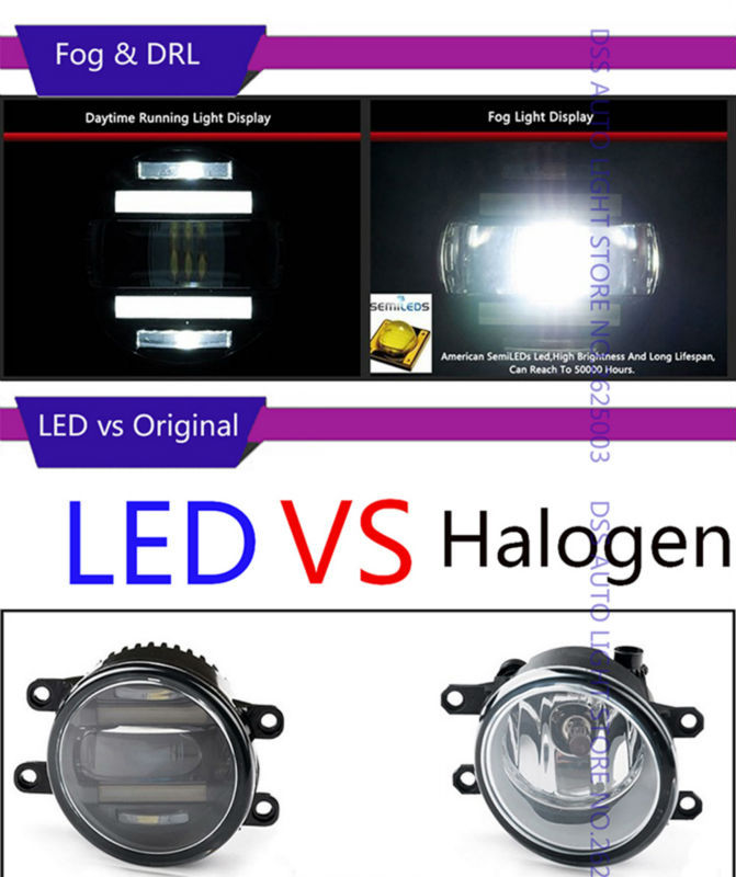 LED Fog Light with Daytime Running Light DRL Front Fog Lamps for Toyota RAV4 Camry Solara Yaris Avalon Highlander Hbbrid Matrix Corolla Venza Prius (10)
