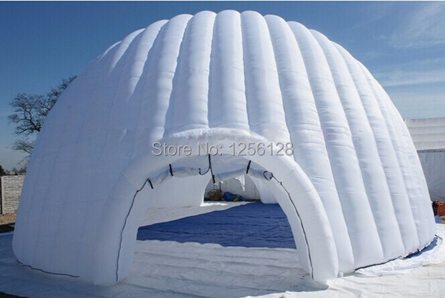Popular White Giant Inflatable Igloo for Event With Fan