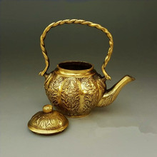 Antique brass ornaments decoration craft gift teapot pot kettle Home Furnishing collection