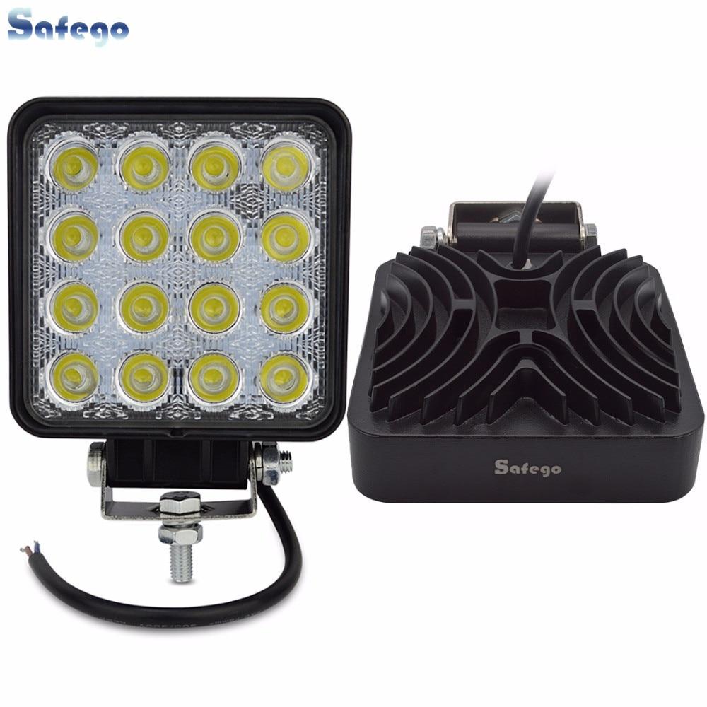 Safego 2X 4 Inch 48W LED შუქის შუქის ინდიკატორები Led სამუშაო შუქები ავტოსატრანსპორტო საშუალება Boat Tractor Truck 4x4 12V spot წყალდიდობა