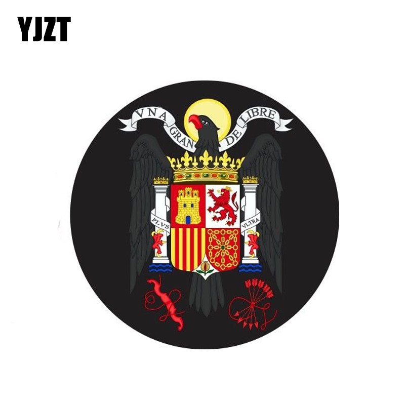 YJZT 10CM*10CM Car Accessories Spanish Coat Of Arms Eagle Sticker Motorcycle Decal Car Sticker  6-2033
