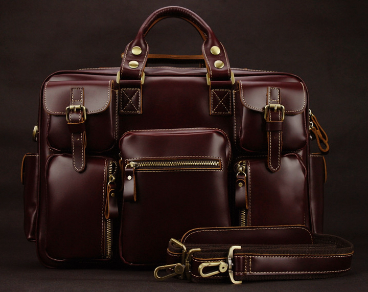 luxury genuine leather menu0027s travel bags luggage bag big men leather duffle bags weekend bag overnight - Mens Leather Duffle Bag