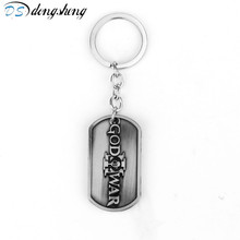 dongsheng Hot Games PS4 God of War Kratos Metal Keychains Mens Anime Key Dog Tag Key Chain Porte Clef Marque Llaveros Gift -50
