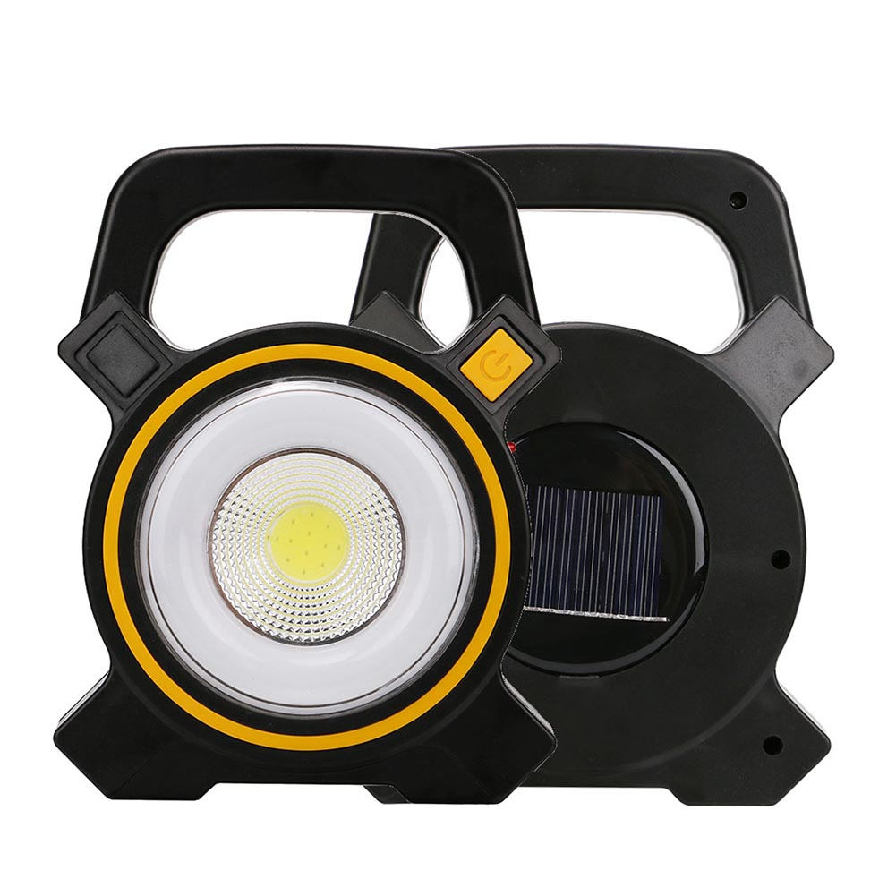 Portable Outdoor 5w Led Rechargeable Work Garage Flood: Portable Solar COB Work Light Solar/USB Rechargeable LED