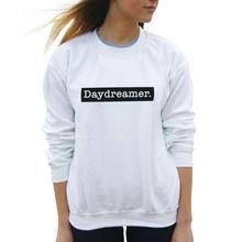 Women Tops Black White Pullovers Hoodies Sudaderas Mujer Daydreamer Harajuku Punk Sweatshirt