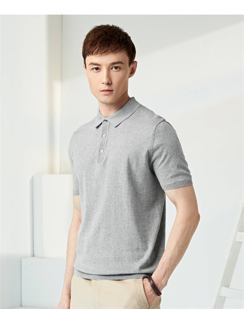 13Colors Summer Polos Men Sweater Quality Combed Cotton Knitted Short Male Tees Top Pullover Large Plus Size 4XL Muls Brand 06