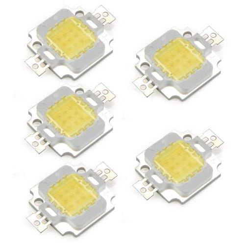 CSS 5 x High Power 10W LED Chip Birne Licht Lampe DIY Weiss 750LM 6500K