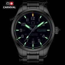 Doble calendario Fecha reloj de buceo militar tritio luz T25 tritio luminoso impermeable relojes de Marca Famosa hombres de acero completos