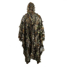Lifelike 3D Leaves Camouflage Poncho Cloak Stealth Suits Outdoor Woodland CS Game Clothing for Hunting Shooting Birdwatching Set(China)