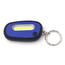 Portable EDC Mini Small Key Chain mini Flashlight COB Super Bright Camping light with Carabiner Flashing Lamp built-in Battery