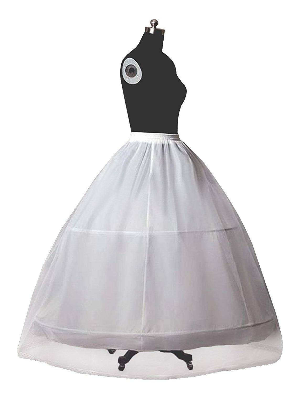 Jupon De Mariée Crinoline pour Femmes De Mariage Robe A-ligne Jupon Plein  Slip 2 Cerceaux-Parole longueur Normale et Plus La Taille 0327665011fb