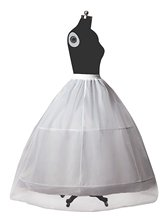 Petticoat Bridal Crinoline for Women Wedding Dress A-line Underskirt Full Slip 2 Hoops Floor-length Normal&Plus Size