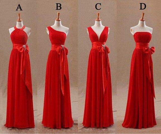 Vestidos largos rojos baratos