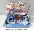 2 PC/LOTE 3D crianças brinquedos casa do enigma modelo de papel de construção kit de construção de brinquedos para as crianças menina diy presente de Natal feito à mão