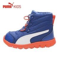 PUMA Winter Warm Leather Fur Snow Boots Children Boys Shoe Plush Lace Up Casaul Sport Sneakers