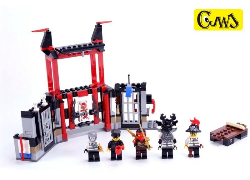 lepin 06034 NinjagoINGlys Masters of Spinjitzu Ninja series Kryptarium Prison Breakout Model Blocks Brick For Children Toy 70591