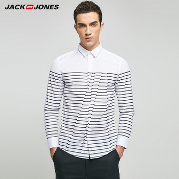 JACK & JONES Brand 2018 NEW regular COTTON smart casual style full length sleeves turn-down collar male shirts |217105508 Casual Shirts