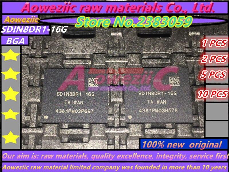 Aoweziic 100 % 새로운 오리지널 SDIN8DR1-16G BGA 메모리 칩 SDIN8DR1 16G