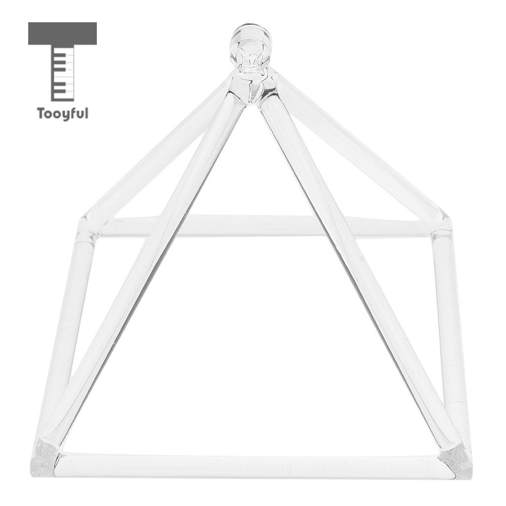 Tooyful 9'' Quartz Crystal Singing Pyramid C Note Singing Pyramid for Meditation Musical Instrument Gift стоимость