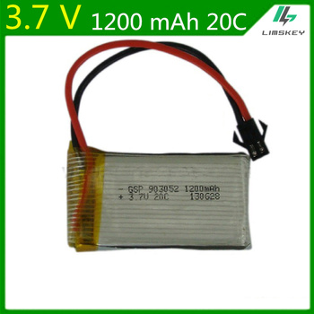 3.7V 1200mAH Lipo Battery For Remote control helicopter Li-po battery 3.7 V 1200 mAH 20C discharge SM black plugs 903052 image