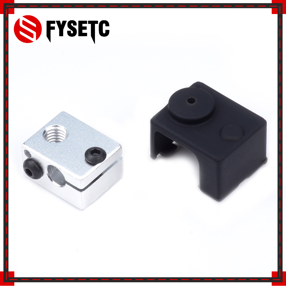 1PC 3D Heater Block Fixings Silicone Insulation Sock Non-Official Heated Block For E3D V6 PT100 Hotend Warm Keeping Cover
