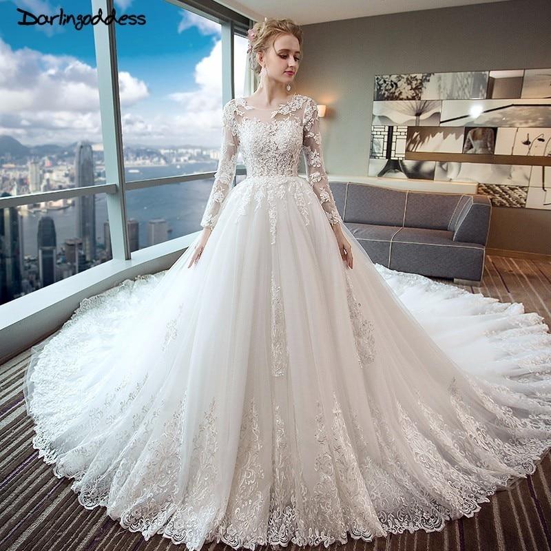 Best Time To Buy Wedding Dress: Aliexpress.com : Buy Luxury Long Tail Lace Dubai Wedding