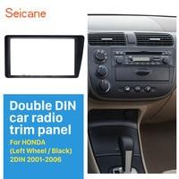 Seicane Great Double Double Din Car Radio Fascia Trim Kit for 2001 2005 Honda Civic LHD Dash Mount DVD Frame Auto Stereo Adaptor